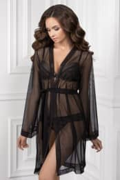 Dressing gown Syzanna, color: black — preview
