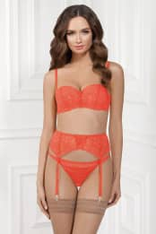 Belts for stockings Brigitte, color: living coral — preview