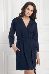 Dressing gown Loretta, color: blue-white — preview