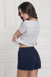 Shorts Tamela, color: blue-white — preview