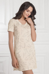Night dress Rajana, color: nude-black  — preview