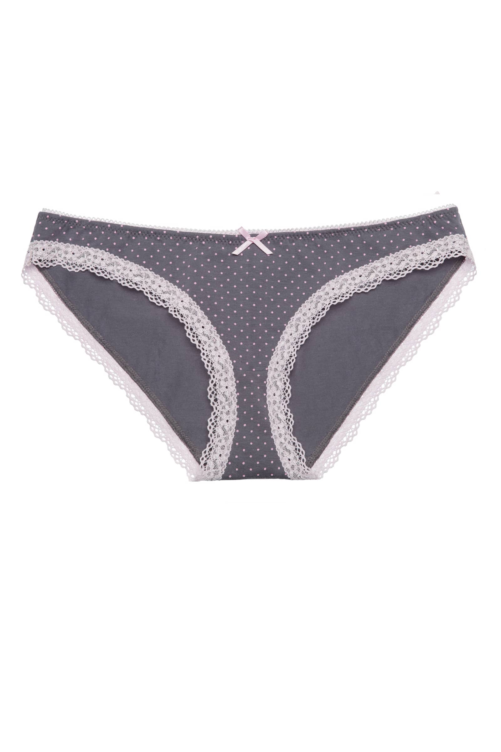 Panties slip — Glory, color: pink-black — picture 1