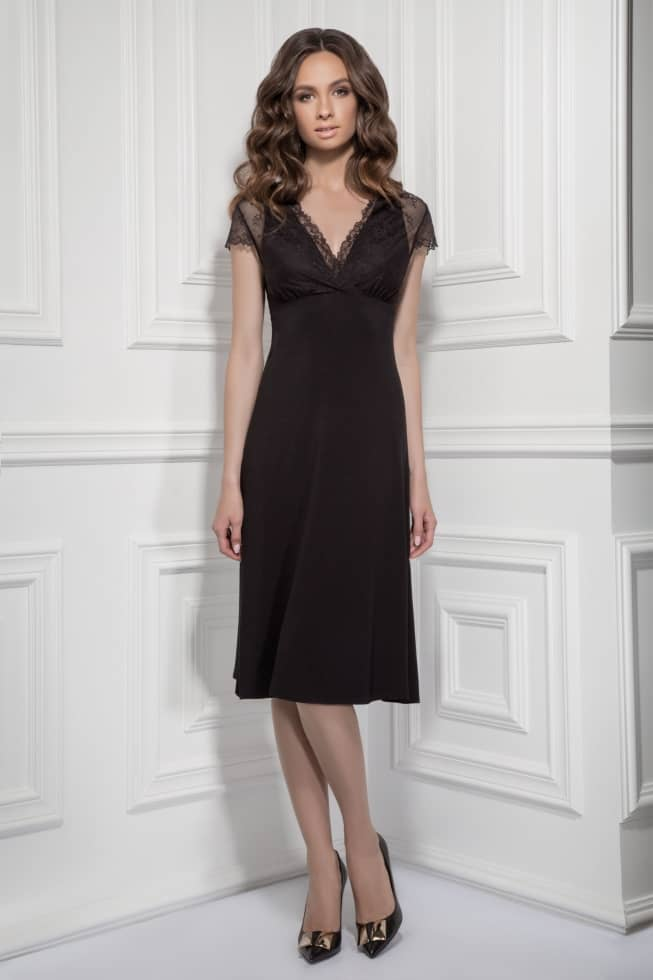 Night dress Christine, color: black — picture 1