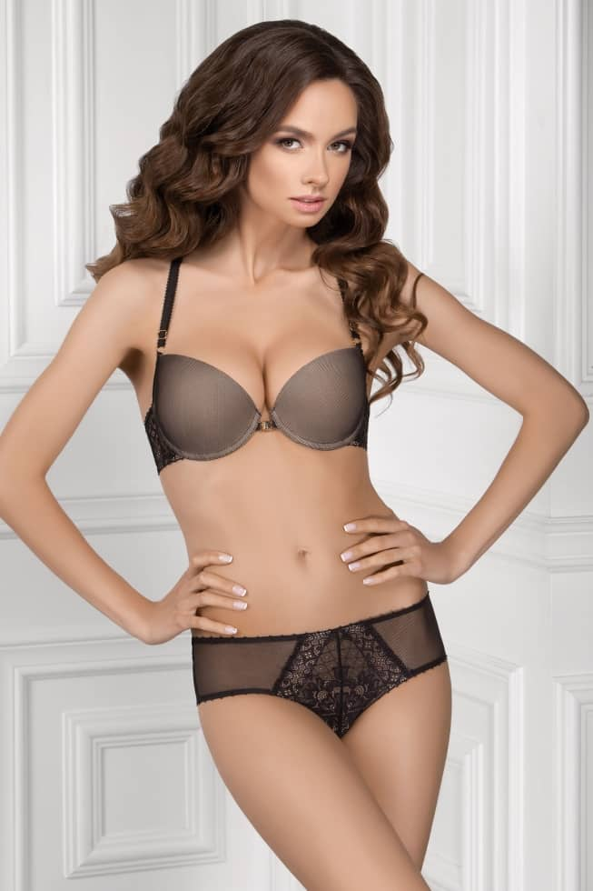 Panties slip — Volina, color: black-beige — picture 2