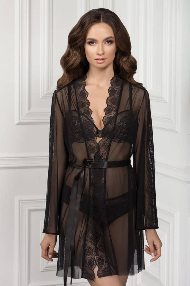 Купить Ночное белье - Халат INGRID - черный, Jasmine